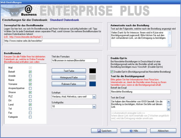 Newsletter Softwaren
