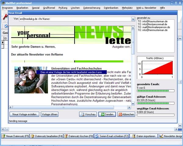 Newsletter HTML und Text-Teil