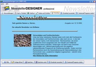 Newsletter verschicken